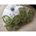 papillon vert pour déco de table
