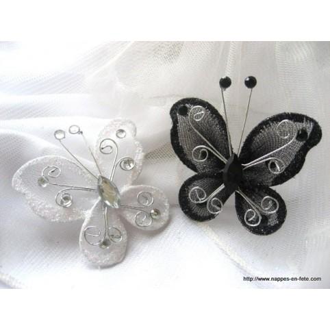 papillon noir pour déco de table