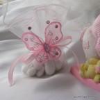 papillon rose vif pour déco de table