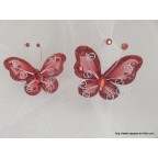 papillon rouge pour déco de table