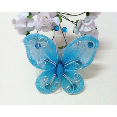papillon bleu pour déco de table