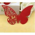 Marque place papillon, porte nom rouge