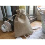 Kit déco pour petit sac à dragées en toile de jute