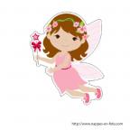 figurine petite ange fille pour communion ou baptême
