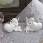Lot de 4 figurines anges pour baptême
