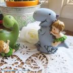 Tirelire dinosaure pour baptême ou anniversaire