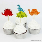 Lot de 8 cake topper dinosaures