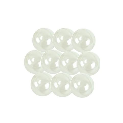 boules translucides plastique cristal