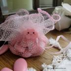 figurine petit nuage rose pour baptême ou naissance