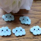 paillettes de table- figurine petit nuage bleu pour baptême ou naissance