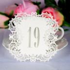 carton découpé numéro table de mariage