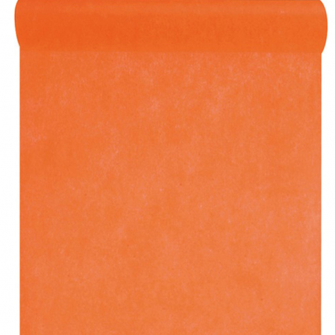 Chemin de table orange intissé 10m