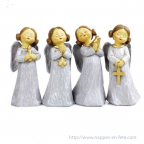 Lot de 4 figurines anges