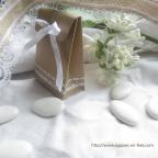 10 mini pochons en carton kraft, contenants dragées