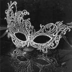 Masque papillon, masque vénitien doré en dentelle