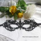 Masque vénitien noir en dentelle, masque gothique