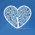 décoration coeur en papier découpé