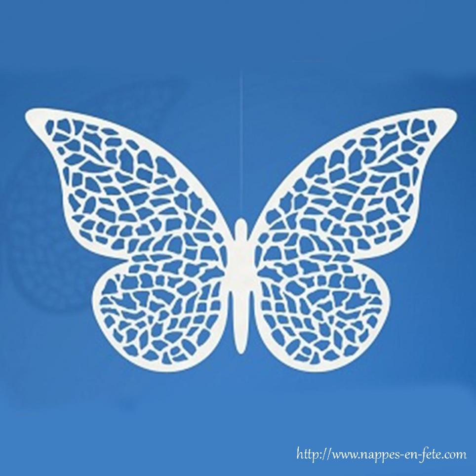 Lot de 10 papillons dentelle pour déco de table
