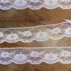 Large dentelle blanche 6cm pour vos décos de mariage