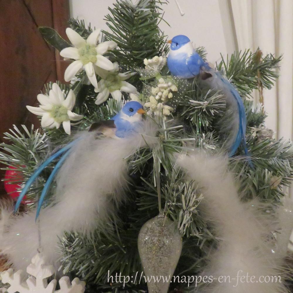 Adorables oiseaux artificiels bleus for Oiseaux artificiels de decoration