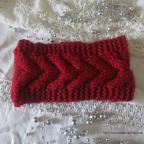 Bandeau cheveux en grosse laine avec torsade