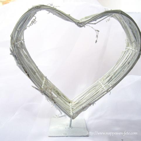 Coeur centre de table romantique