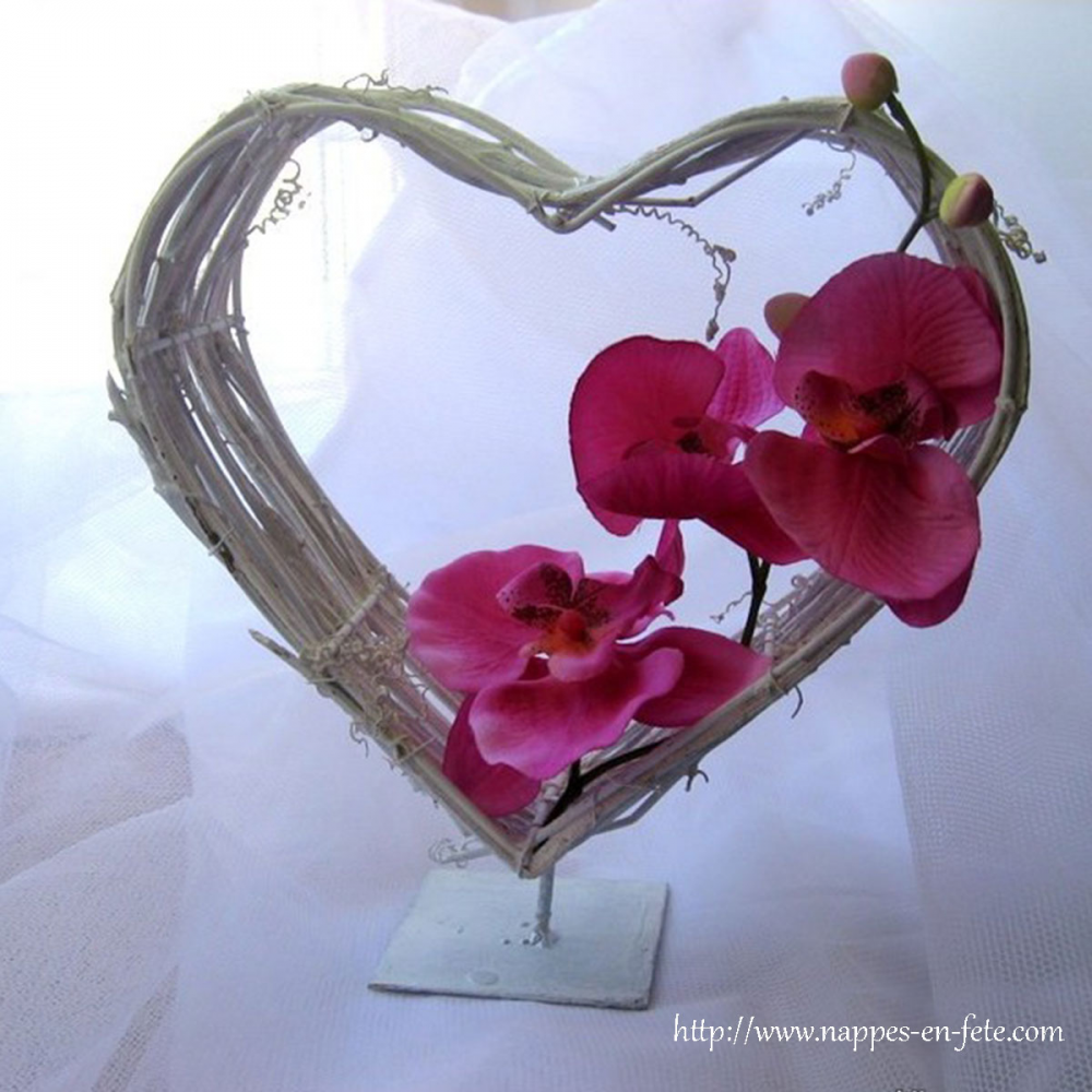 Centre De Table Romantique Coeur Pour De Mariage