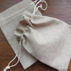 petit sac à dragées en toile de jute