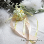 Bracelet fleurs et rubans pour mariage