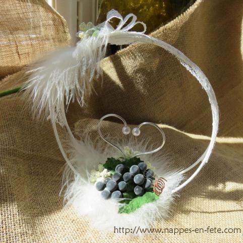 Porte alliance avec raisin thème vigne et vin