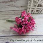 Fleurs miniatures roses, liens pour décorer vos tulles ou votre table
