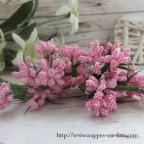 Fleurs miniatures roses, ravissants liens pour décorer vos tulles ou votre table