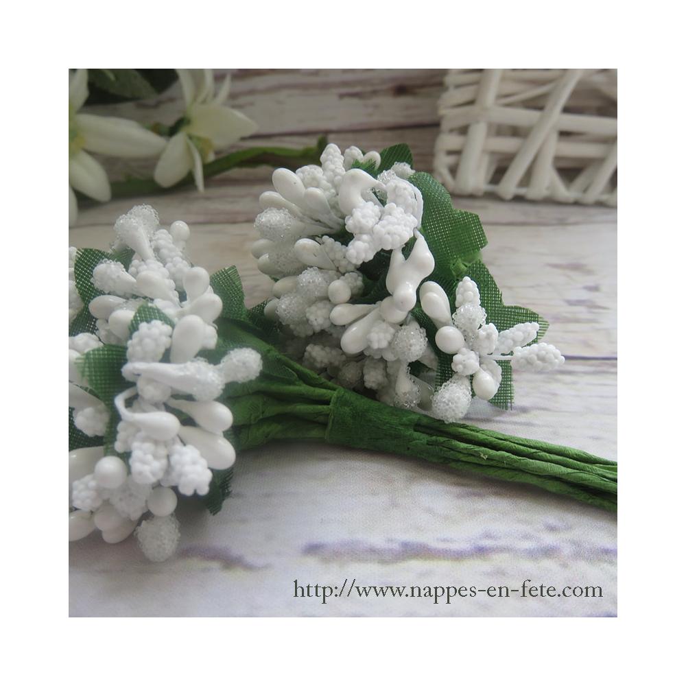 fleurs miniatures liens blanches pour vos tulles et bo tes drag es. Black Bedroom Furniture Sets. Home Design Ideas