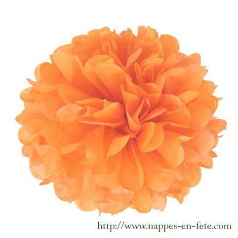 Boule pompon fleur papier Ø 24cm
