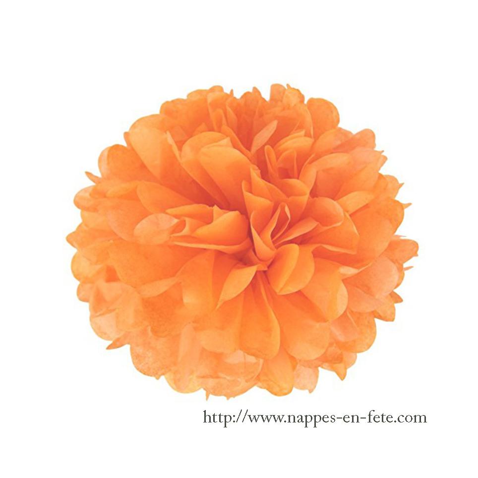 Boule pompon fleur papier Ø 20cm