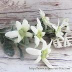 Edelweiss, fleurs artificielles pour décoration mariage thème montagne