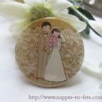 badge mariage cadeau pour invités