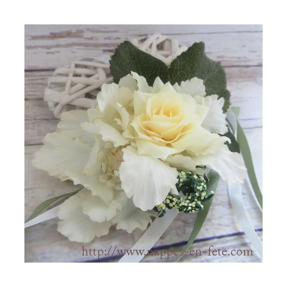 Bracelet fleurs pour mariage champetre