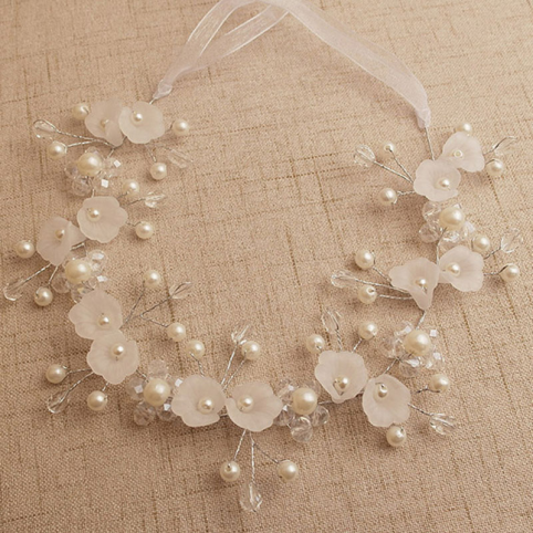 Accessoire mariage-accessoire cheveux - couronne en perles