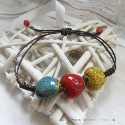 bracelet cœurs idée pour saint Valentin