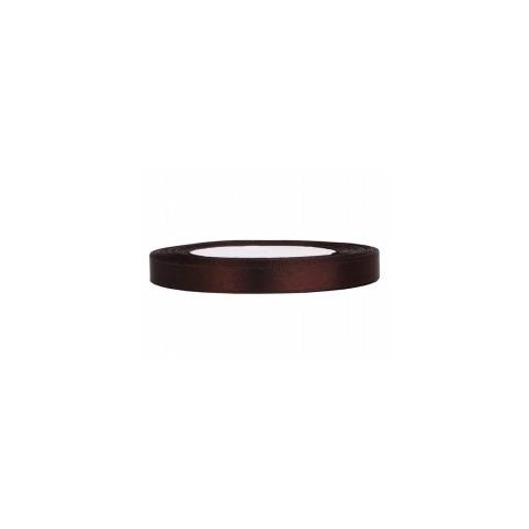 Ruban satin chocolat 0,6cmX25m