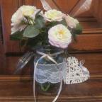 mariage champêtre bocaux en verre décoration