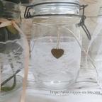 dentelle vintage pour déco de bocaux en verre et mariage champêtre