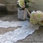 dentelle blanche élastique 6 cm de large pour deco mariage