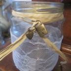charms cadenas cœ pour déco de bocal en verre
