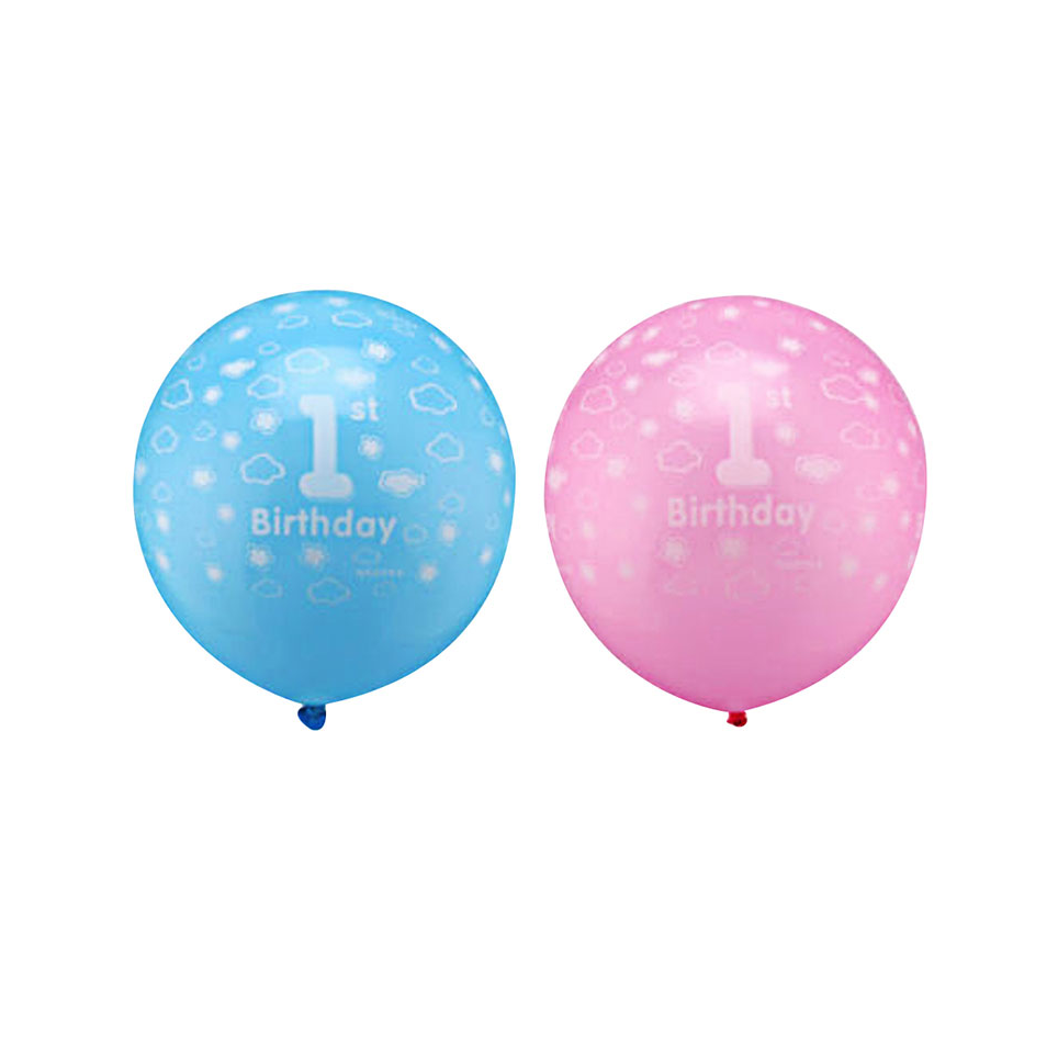 ballons 1er anniversaire bleu ou rose