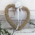 cœur en corde pour déco de mariage