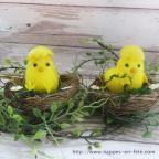 poussin décoration de pâques, poussin dans nid