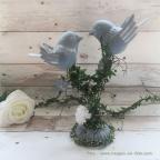 Centre de table mariage avec oiseaux