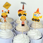 cake topper tractopelle
